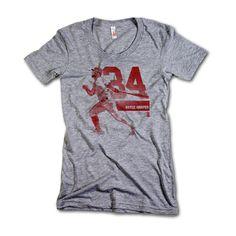 Bryce Harper MLBPA Officially Licensed Washington Womens Scoop Neck T-Shirt S-XL Bryce Harper Grunge R