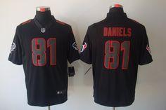 Houston Texans #81 Daniels black Nike NFL Impact Limited Jersey