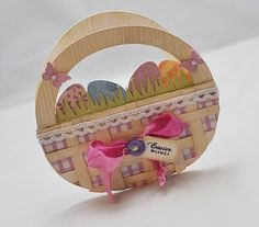 The Cutting Cafe Easter Basket template