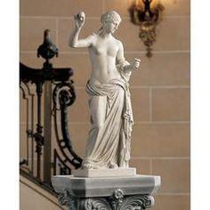 Buy Design Toscano Venus of Arles Greek Goddess Statue, Gallery, Antique Stone Roman Sculpture, Stone Sculpture, Sculpture Art, Garden Sculpture, Greek Goddess Statue, Venus Images, Sculpture Romaine, Greek Mythology Art, Roman Mythology