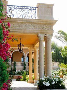 beautiful columns and stone work made enchanted by gardening... #gardening