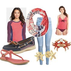 sperrys at the beach!!!! by smr123 on Polyvore featuring Sperry Top-Sider and H&M
