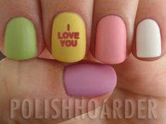 Heart Candy nails!