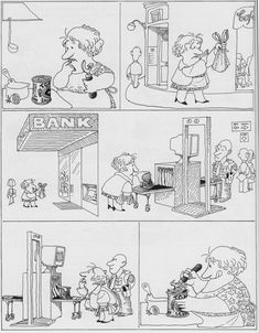Everything & Nothing: Quino - ¡Qué presente impresentable! (What an Unpresentable Present! Lucky Luke, Nerd Humor, Humor Grafico, Amazing Adventures, Cool Cartoons, Critical Thinking, Cartoon Styles, Funny Comics, Caricature