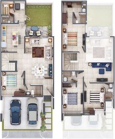 House Layout Plans, Family House Plans, Small House Plans, House Layouts, Modern House Floor Plans, Home Design Floor Plans, Home Building Design, Modern Small House Design, Minimalist House Design