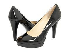 Calvin Klein - Sandie  Price: $99  Stylish sophisticated and versatile - the perfect peep toe pump! Available in a variety of upper materials. Man-made lining. Lightly padded footbed. Covered heel and platform. Synthetic sole. Measurements: Heel Height: 4 1 4 in Weight: 10 oz Platform Height: 3 4 in