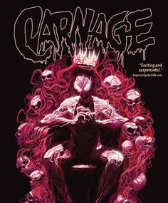 Written by: Gerry Conway   Art by:  Mike Perkins  Cover by:  Mike Del Mundo Collects Carnage (2015) #6-10. Carnage goes to sea to see the world  and kill it! When South African 16-year-old Jabulile van Scotter started sailing around the globe she didnt plan on a symbiotic psychopathic stowaway! Evolved to the next level the serial killer has plans to turn the oceans red with blood  but the Anti-Carnage Task Force is following the trail of bodies left in his wake. Do Man-Wolf Eddie Brock…