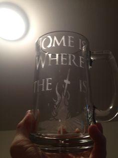 "Dark Souls - ""Home is where the bonfire is"" etched mug (Homemade fan art)"