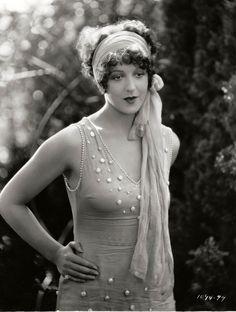 Natalie Kingston, 1927, in classic flapper attire.                              …