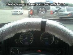 Click the link/image to see the full pic & story! http://giantgag.com/gags/how-to-keep-cal-in-traffic-jams?pid=972