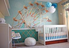 How fun!  Ferris Wheel Mural ($179 and up)