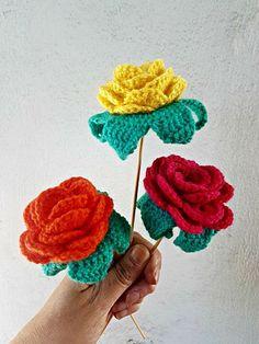 La ventana azul: 210.- Rosas a crochet