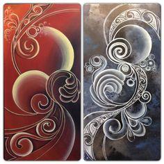Creative Intuitive from New Zealand Maori Designs, Nz Art, Fantasy Art Women, Maori Art, Art Journal Inspiration, Color Inspiration, Acrylic Painting Tutorials, Diy Canvas, Silk Painting