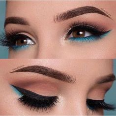 The Smokey Eye Make-up is perfect for the shape of your eyes . - Make-up - # . , The Smokey Eye Make-up is perfect for the shape of your eyes . - Make-up - Makeup Eye Looks, Smokey Eye Makeup, Cute Makeup, Eyeshadow Makeup, Beauty Makeup, Gorgeous Makeup, Blue Eyeliner, Makeup Brushes, Perfect Makeup