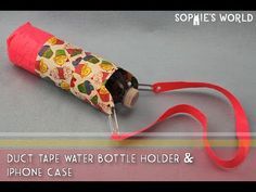 Sew an insulated cover for a baby feeding bottle or water bottle - YouTube