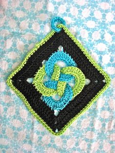 "Day 1: 12"" Block of the Day Waldos Puzzle pattern by Chris Simon  Free Pattern: http://www.scribd.com/doc/136152503/Waldos-Puzzle  June 2013 #TheCrochetLounge #12""Square Pick #crochet"