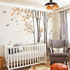 Huge Birds Trees Forest Wall Arts Nursery Kids Decals Baby Decor Gifts – IDecoRoom