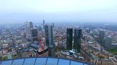 MAIN TOWER Frankfurt. The impressive view of Frankfurt's skyline - Saver...