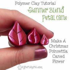 Skinner Blend Flower Petal Cane - Poinsettia Part 1 by KatersAcres