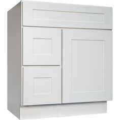 danville white bottom drawer vanity - available widths 30 inch, 36