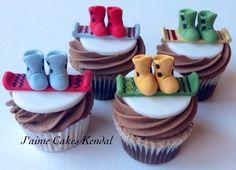 Snowboard Cupcakes