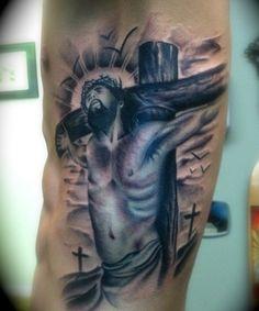 Tribal Cross Tattoo Design for Men Image