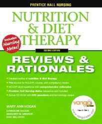 Essential for course review and NCLEX review, this resource is a complete, concentrated outline of nutrition. Each chapter contains objectives, pre- and post-tests with rationales, vocabulary review, practice to pass exercises, critical thinking case studies, as well as NCLEX alerts. Unique to Prentice Hall's Nursing Reviews & Rationales Series