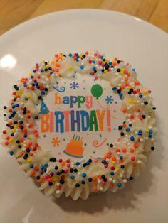 Happy birthday cookie Happy Birthday Cookie, Birthday Cookies, Birthday Cake, Edible Printing, Amazing, Desserts, Food, Tailgate Desserts, Deserts