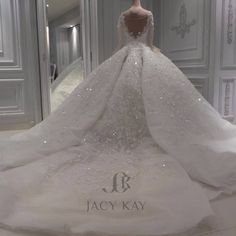 Wedding Gown 20 BREATHTAKING WEDDING GOWNS - Wonder Cottage - Here are 20 breath-taking wedding gowns that willsurely have you looking and feeling like a princess. Princess Wedding Dresses, Long Wedding Dresses, Bridal Dresses, Backless Wedding, Modest Wedding, Long Dresses, Dress Wedding, Dress Long, Wedding Gown Ballgown