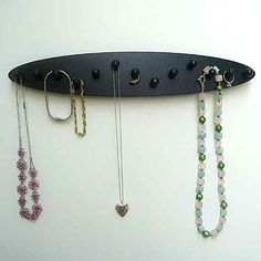 necklace holder jewely rack  wood 13 pegs oval by LangtonStudio, $16.00