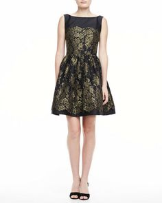 Love this: Sleeveless Lace Dress with Full Skirt @Lyst
