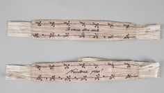 """century garters, with embroidered text: """"Je veux être seule"""" and """"N'entrez pas!"""" Part of the collections at Malmö stadsmuseer, Sweden. European Costumes, Garters And Stockings, 18th Century Costume, The Libertines, 18th Century Clothing, Vintage Fashion, Women's Fashion, Regency, Braces"""