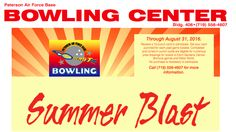 SUMMER BLAST Receive a 10-punch card to participate. Get your card punched for each paid game bowled. Completed and turned in punch cards are eligible for numerous prize drawings for tickets to Elitch Gardens, Denver Broncos games and Water World. No purchase is necessary to participate through August 31, 2016. Call (719) 556-4607 for more information. #COSprings #military #bowling #summer #ColoradoSprings #PeteAFB