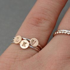 Mixed Metal Jewelry  Mixed Metal Stack Rings  by CatherineMarissa, $54.00