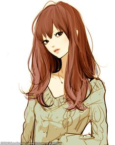 Kai Fine Art is an art website, shows painting and illustration works all over the world. Illustration Girl, Character Illustration, Character Art, Character Design, Brown Eyed Girls, Anime Style, Kawaii Anime, Art Girl, Anime Characters