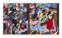 Jacob Lawrence - Forward Together, 1997, color...