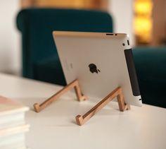 #iPad #Wooden Stand – Made of Spanish Walnut Wood