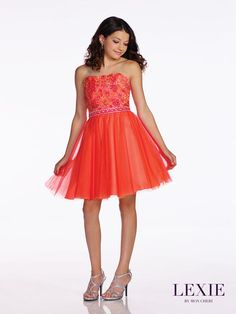 Lexie by Mon Cheri | Preteen | Party Dress Express | 657 Quarry Street | Fall River, MA | Order online or by phone | partydressexpress... | #preteen #dresses