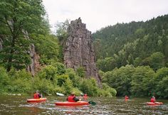 Czech Adventures event - Kayaking around amazing rocks 2 Days Trip, Czech Republic, Rafting, Canoe, Kayaking, Most Beautiful, Rocks, Adventure, Destinations