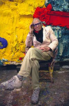 Artist who 'built' his abstract, expressionist paintings using pigment and cement