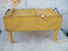 """20"""" x 36"""" Rustic Wooden Storage Coffee Table - Trunks Repurposed from Rustic Ammo Boxes-a future project"""