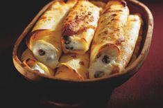Palačinky zapékané, plněné tvarohem Czech Recipes, Russian Recipes, Breakfast Snacks, Sausage, Turkey, Treats, Chicken, Czech Food, Arizona
