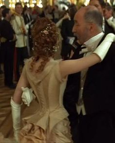 Kitty's cream ball gown from Anna Karenina 1997 - back close-up   picture by costumersguide - Photobucket