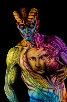 artist Alex Hansen  - Face and Body Art Convention