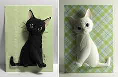 New Paper Cat Sculptures From Matthew Ross