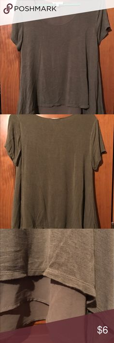 Olive Colored Shirt Flowy olive colored shirt. Pairs well with some skinny jeans. Only worn a few times. Cloudchaser Tops Blouses