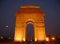 India Gate, New Delhi -  In the evening, India Gate looks like a golden monument when the setting sun hits the western side of the Gate.India Gate stays awake even late into the night and there's a sense of festive air around it.