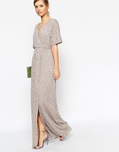 Image 4 of ASOS Sequin Kimono Maxi Dress