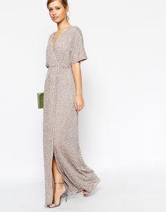 Vestido largo con lentejuelas y diseño estilo kimono de ASOS 98,99 €  8-7-15