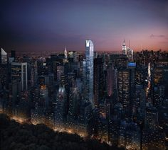 one57 residential tower by christian de portzamparc in manhattan, new york, NY, USA